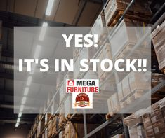 YES! IT'S IN STOCK!! As we celebrate our 18th Anniversary, we don't want you to wait to celebrate!! ALL our items that are listed in our 18th Anniversary specials are IN STOCK and ready to be picked up at our warehouses or delivery. Be sure to visit us in store or online today!! Mega Furniture, Warehouses, 18th, This Is Us, Anniversary, Delivery, This Or That Questions, Store, Larger