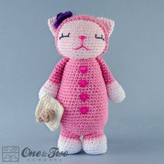Kitty Amigurumi - PDF Crochet Pattern - Instant Download - Doll crochet Animal Cuddy Stuff Plush
