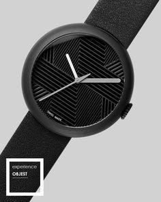 Dads Day, FREE SHIPPING & The Winner is.. Objest Charcoal black Watch - The timepiece features a numberless dial design with a 3D hatched pattern that indicates the twelve points of a traditional watch face. Our premium Swiss watches have a 40 mm Charcoal DLC case and black Italian leather strap. Swiss Made, 50m water resistance, 2 year warranty £279.  We celebrate creativity. http://objest.com