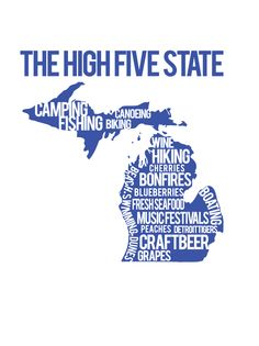 The High Five State. $18.00, via Etsy.