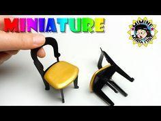 미니어쳐 카페 의자 만들기 Miniature - Chair 미미네 미니어쳐, ミミネミニチュア - YouTube