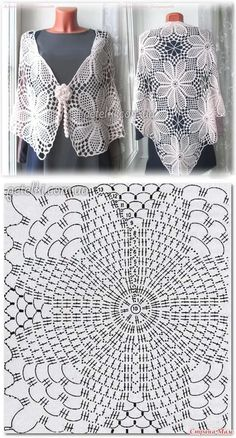 - Her Crochet Crochet Diagram, Crochet Chart, Crochet Motif, Crochet Lace, Crochet Stitches Patterns, Thread Crochet, Crochet Designs, Stitch Patterns, Mode Crochet
