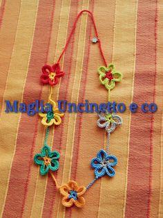 Collana fiorellosa di MagliaUncinettoeco su Etsy