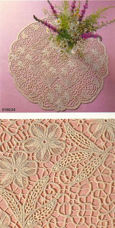 Fiber Art Reflections: Romanian Point Lace Crochet Table Cloth