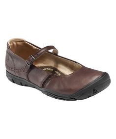 Look what I found on #zulily! Mocha Delancey Leather Mary Jane - Women by KEEN #zulilyfinds49$