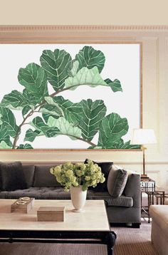 Fig Leaf Poster PRINTABLE FILE BG4 fig tree leaf print