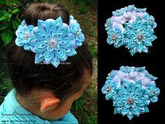 одноклассники Diy Lace Ribbon Flowers, Cloth Flowers, Kanzashi Flowers, Ribbon Art, Ribbon Crafts, Flowers In Hair, Fabric Flowers, Fabric Crafts, Bun Wrap