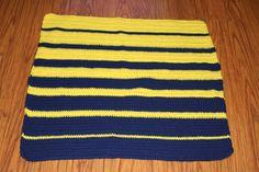Yellow Blue Fade Blanket