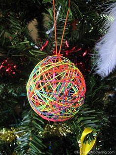 how to make yarn christmas balls