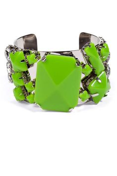 By Malene Birger Spring Green Quilcina Bangle, $125; stylebop.com