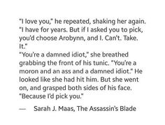 The feels!! Sam was such a sweetheart and cinnamon roll, he didn't deserve the pain. Breaks my heart.  TOGS