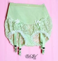~1950s Olga Lace Girdle Vintage Panties--to wear under dress clothes with stockings~