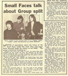 Small Faces y la separación.