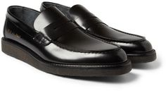 a13d1f06279 Common Projects Crepe-Sole Leather Loafers Penny Loafers
