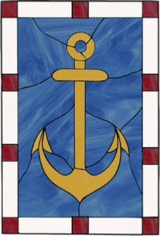stained glass anchor window