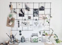 80 Creative Apartment Hacks Decor Ideas And Remodel Memo Boards, My New Room, My Room, Dorm Room, Wand Organizer, Metal Grid, Metal Board, Wire Board, Apartment Hacks