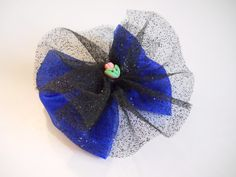 Snow Princess Hair Bow  Ice Queen  Glitter by MissLottiesBoutique