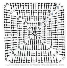 Transcendent Crochet a Solid Granny Square Ideas. Inconceivable Crochet a Solid Granny Square Ideas. Crochet Motifs, Crochet Blocks, Granny Square Crochet Pattern, Crochet Diagram, Crochet Chart, Crochet Squares, Love Crochet, Crochet Granny, Crochet Blanket Patterns