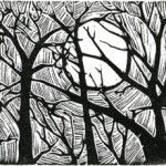 John Steins - Sun and Trees / wood engraving