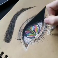 """""""If I can see the pain in your eyes then share with me your tears. If I can see the joy in your eyes then share with me your smile."""" ― Santosh Kalwar By 💫 Release your creativity with a BONUS eBook Library by buying NIL Tech Pencil Set, Pencil Sketch Drawing, Drawing Artist, Pencil Art Drawings, Art Drawings Sketches, Cute Drawings, Eye Drawing Tutorials, Drawing Techniques, Art Tutorials, Architecture Drawing Sketchbooks"""
