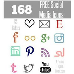 A Typical English Home: NEW Minimalist Social Media Icons