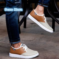 Hot shoes Men Flat Casual shoes new lightweight breathable Mesh men leather size 39-44 tenis feminino apatos chaussure homme