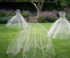 chicken wire dresses, awesome.