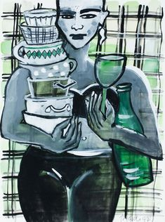 Elvira Bach, Neo Expressionism, Art Forms, Germany, Artwork, Painting, Fictional Characters, Women, Santo Domingo