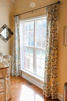 DIY Curtain Tutorial by southerndaisy.com.  I can totally do this...I just need a sewing machine.