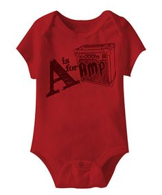 Love this Red 'A Is for Amp' Bodysuit - Infant on #zulily! #zulilyfinds