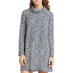 BCBGeneration Cowl Neck Sweater Dress ($94) ❤ liked on Polyvore featuring dresses, drapey dress, cowlneck dress, cowl neck dress, drape dress and cowlneck sweater dress