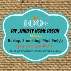 diy thrifty, home decor, budget friendly ideas.