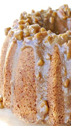 Texas Pecan Cake with Butter Pecan Glaze . looks great but I would probably never roast and puree butternut squash. I'll post just in case . Cupcake Recipes, Cupcake Cakes, Dessert Recipes, Food Cakes, Cake Candy, Pecan Cake, Texas Pecan Pie Pound Cake Recipe, Bunt Cakes, Butter Pecan
