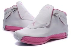 b770d88ee4 Pink and Grey Jordans | Air Jordan 18 Retro Women Gray Pink Jordan Schuhe  Für Kinder