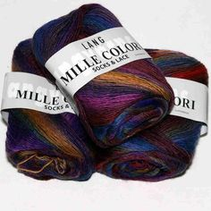 Mille Colori Socks&Lace Blau-Bordeaux-Lila-Orange - Heikes Handgewebtes Bordeaux, Orange Braun, Yarn Inspiration, Lang Yarns, Yarn Ball, Darning, Crochet Stitches, Fiber Art, Sewing