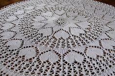 Punto Crochet encaje tapetito 24 blanco 61 cm hecha por Sweetdoily