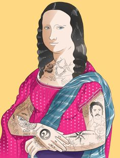 Mona Style; criação de Sarah Kamada.  Designer e ilustradora, mora em São Paulo, Brasil.