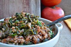 Stewed Tomatoes with Kale  Quinoa: an easy vegan  gluten-free recipe - peace. love. quinoa