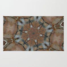 New matching Tee Pee Bird Totem Mandala Kaleidoscope Area & Throw #Rug by SaraValor - $28.00 #officedecor #homedecor