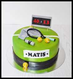 Tennis cake Page Facebook Chtefy's Cakes & Co