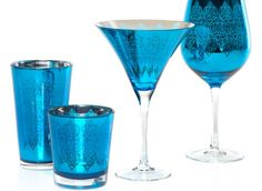 Puccini Glassware - Peacock Set of 4 | Z Gallerie