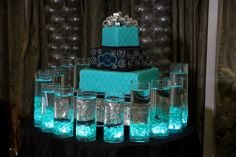 LED Candle Lighting Display LED Cylinders with Floating Candles Display