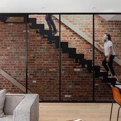 C.Kairouz Architects (@c.kairouz.architects) • Instagram photos and videos  Residential Architecture design #architecture #design #architect #exposedbrick Architecture Design, Residential Architecture, Exposed Brick, Stairs, Photo And Video, Instagram, Photos, Home Decor, Architecture Layout