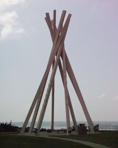Giant teepee at rest area on I-90 in South Dakota
