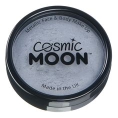 Cosmic Moon Metallic Pro Face Paint Cake Pots, Silver, Single, 36g ** Click on the image for additional details. (As an Amazon Associate I earn from qualifying purchases) Face Paint Makeup, Body Makeup, Paint Cake, Face And Body, Body Painting, Cosmic, Pots, Metallic, Eyeshadow
