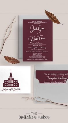 This simple wedding invitation is a classic! With an elegant calligraphy and neutral tones, you can never go wrong with this invitation style. Check out our website for more custom wedding invitations that and find the perfect invitation for you.
