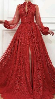 Ball Dresses, Ball Gowns, Evening Dresses, Prom Dresses, Dresses With Sleeves, Red Gown Prom, Quinceanera Dresses, Summer Dresses, Elegant Dresses