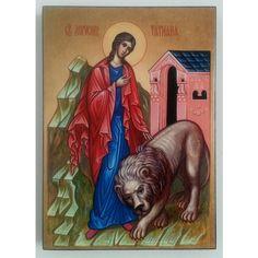 Saint Tatiana, Christian Icon 8x6 in / 21x15 cm