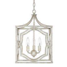 Capital Lighting 9481AS Blakely 3 Light Foyer Pendant In Antique Silver