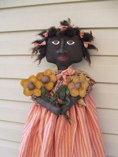 Primitive Doll Pattern epattern with daisy by Raggedyrhondas